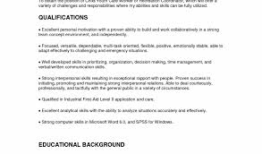 Cover Letter For Child Care Picture Of Resume Objective