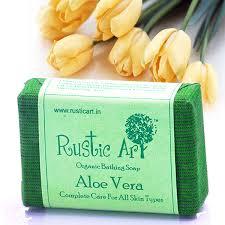 Organic Aloe Vera Soap Rustic Art Chemical Free Skin Moisturiser Glow Sun Burn