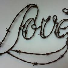 LOVE Wire Art Barbed Wall Hanging Monogram Sculpture