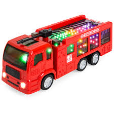 100 Fire Trucks Toys Best Choice Products Toy Truck Electric Flashing Lights And Siren Sound Bump And Go Action