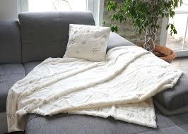 set wohndecke deko kissen schnee kuscheldecke sofadecke zierkissen füllung flauschig pailletten