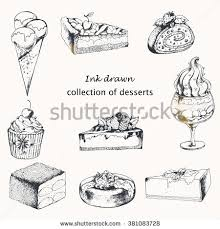 Vector Collection of Desserts with Cake cupcake sweet roll ice cream dessert