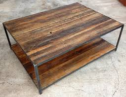 Coffee Table Reclaimed Wood And Iron Coffee Table Shasta