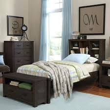 bookcase solana platform bed with bookcase headboard california