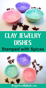 Clay Jewelry Dishes Stamped With Spices