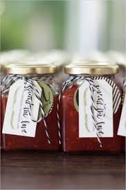 Homemade Triple Berry Jam Was Given To Guests To Take Home These