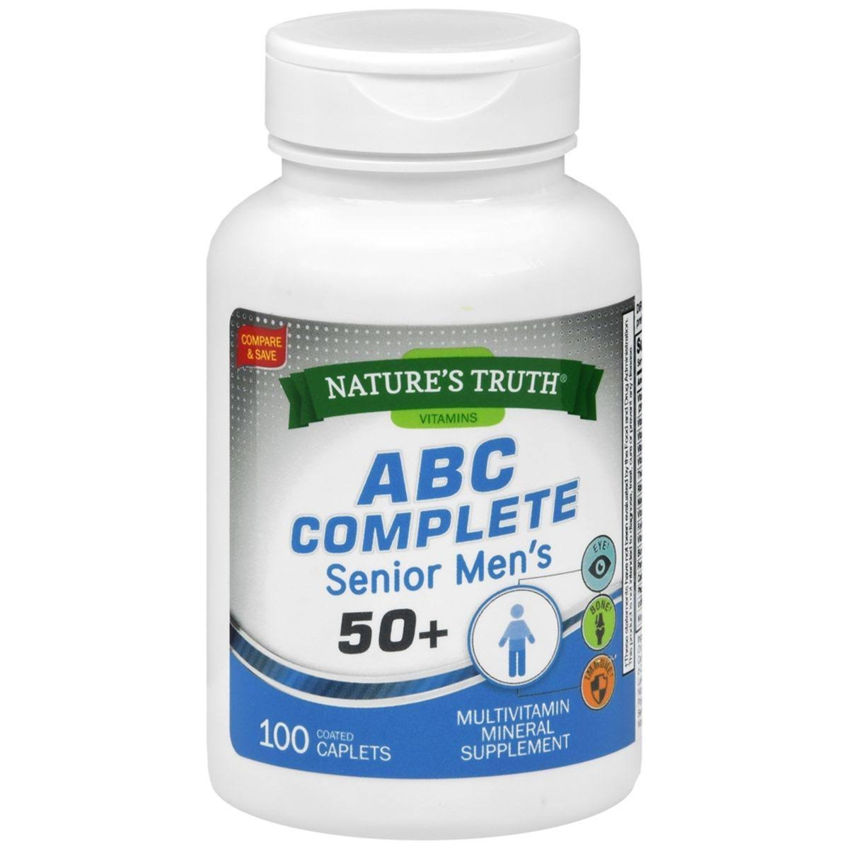 Nature's Truth ABC Complete Men's 50+ Multivitamin Caplets, 100 Count