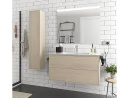 badezimmer badmöbel 100 cm ulisse aus nordik farbe holz mit porzellan waschtisch abmessungen 100 cm zubehör standard
