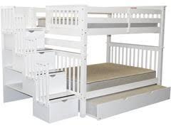 White Full Over Full Bunk Beds