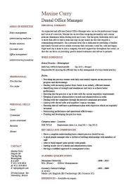 Dental Office Manager Resume Example Sample Template Dentist Teeth CV Job Description