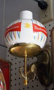 vintage Budweiser bar sconce lights for sale vintage anheuser