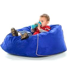 Big Joe Bean Bag Chairs Club Jr Beanbag Chair For Kids Large Blueberry