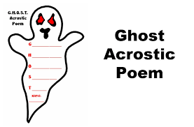 Halloween Acrostic Poem Words by Ghost Acrostic Poetry Set Other Files Documents And Forms