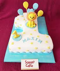 sonya s cake torte zum 1 geburtstag mit löwe