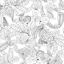 Amazing Chic Ocean Coloring Book Amazon Designs Adult 31 Stress