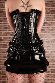 burleska punk pvc mini skirt