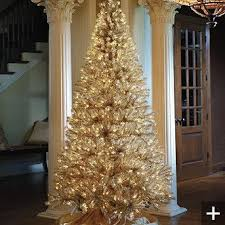 Champagne Gold Artificial Christmas Tree Im In Heaven See The Video FRONTGATE