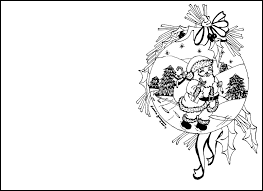 Christmas Card Coloring Pages Best Of