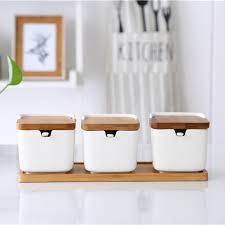 Ceramic Kitchen Canister Sets 250 Ml Set Of 3 Square Canisters Home Ceramic Kitchen Canister Set For Spices Buy Kitchen Canister Set Ceramic Spices Canister Set Square Canister