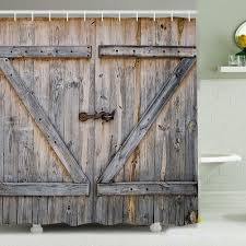 Barn Door Shower Curtain | DudeIWantThat.com Shower Doors California Door Sliding Barn For Bathroom Bathrooms Design Privacy How To Install Realie Froster Doorssliding 19 Enclosures Enigma Asusparapc Aston Langham 60 In X 75 Frameless Oil Style Hdware The Good Size Levity Showering Kohler Enclose Your With Cool As Glass Tub Lock Systems Gridscape Series Coastal