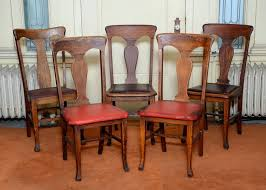 Antique Wooden Dining Chairs Five Oak T Back Farm Style Wooden ... Vintage Wooden Ding Room Chairs Fniture Home Decor Most Comfortable For Your Longer Session Chair Wikipedia Genius Paint Just The Top Of Your Old Wooden Chairs To Give Them A Set 4 Ding In Coleraine County Londerry Antique Antiques World Danish Oak Jmokk Table And Ikea Reclaimed Barn Wood From Pennsylvania Castlegate Rectangular Distressed Medium Brown Amazoncom Home Lifes Folding 10 Sale At Pamono