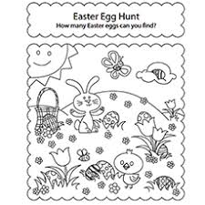 Easter Egg Hunt Coloring Page