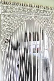 Opulent Design Macrame Door Curtain Etsy Curtains Ideas