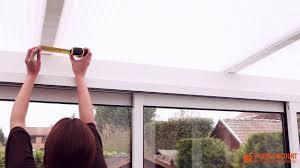 mesures pour un store velum au plafond d une véranda comment