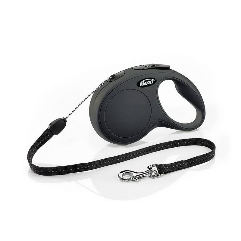 Flexi Classic Cord Leash for Dogs - Black