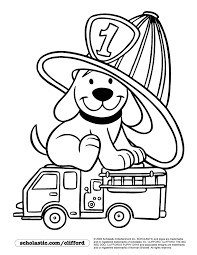 Firedog Clifford Coloring Page