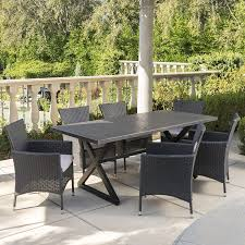Amazon.com : Manhattan Outdoor Dining Set | 7 Piece | Grey Aluminum ... Klaussner Outdoor Delray 7piece Ding Set Hudsons Breeze Ding Chair Alinum Frame Harbour Suncrown Brown Wicker Fniture 5piece Square Modern Patio To Enjoy Lovely Warm Summer Awesome Patio Quay Chair By King Living Est Living Design Directory Room Charming Image Of For Hampton Bay Belcourt Metal With Walmartcom Bilbao Five Piece Falster Ikea I Love The Looks Of This Outdoor Ding Set Table 10 Easy Pieces Chairs In Pastel Colors Gardenista