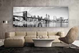 new york schwarz weiss panorama kunstwerk modern design