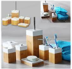 badmöbel set bad accessoire badezimmerset aus natürlichen