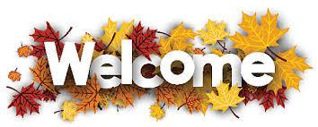 Wel e banner with maple leaves vector art illustration