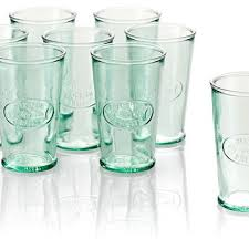 Tall Drinking Glasses Recycled Glass