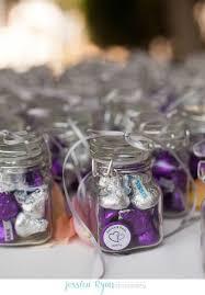 Purple Hershey Kiss Wedding Favor