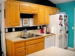 kitchen colors with oak cabinet light blue kitchen paint color