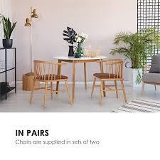 nyssa esszimmerstuhl paar buchenholz sitzkissen aus