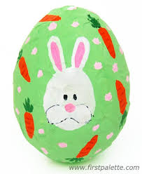 Painted Papier Mache Easter Egg