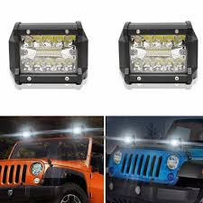 60W Triple Row LED Light Bar 4Spot Driving Lights Off Road Lighting ... Poppap 300w Light Bar For Cars Trucks Boat Jeep Off Road Lights Automotive Lighting Headlights Tail Leds Bulbs Caridcom Lll203flush 3 Inch Flush Mount 20 Watt Lifetime 4pcs Led Pods Flood 5 24w 2400lm Fog Work 4x 27w Cree For Truck Offroad Tractor Wiring In Dodge Diesel Resource Forums Best Wrangler All Your Outdoor 145 55w 5400 Lumens Super Bright Nilight 2pcs 18w Led Yitamotor 42 400w Curved Spot Combo Offroad Ford Ranger