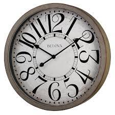Bulova Table Clocks Wood by Bulova Westwood Wall Clock Walmart Com