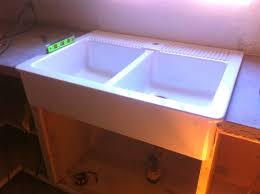 Domsjo Single Sink Unit by Day 17 Install An Ikea Domsjo Sink U2026and Live