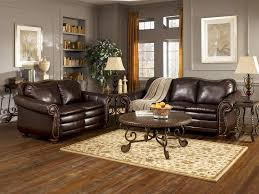 Brown Leather Couch Living Room Ideas by Perfect Ideas Ashley Leather Living Room Sets Beautifully Idea