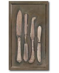 toile deco cuisine tableau de cuisine les couteaux toile de couverts pour une déco