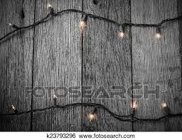 Stock Images Of White Christmas Tree Lights With Rustic Wood