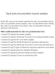 Vice President Resume Executive Template