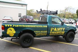 Party Crashers Vehicle Graphics Ford Ranger - Coastal Sign & Design, LLC