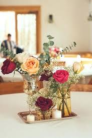 Wedding Table Flower Decorations Simple Rustic Centerpiece Ideas Vintage Centerpieces