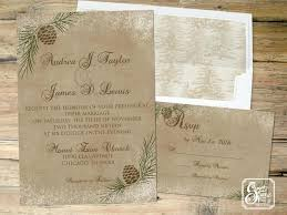 Winter Wedding Invitations Invitation Rustic Printable Country