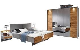 schlafzimmer komplett mit 5 türigen kleiderschrank in grau